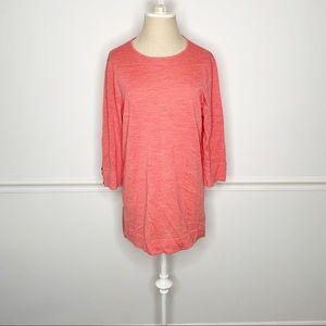 J. Jill Merino Wool Coral Tunic Sweater Blouse